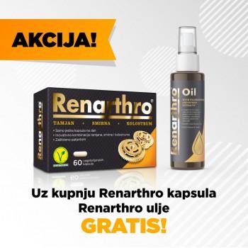 AKCIJA!!! Uz kupnju Renarthro 60 kapsula Renarthro ulje dobiješ GRATIS!