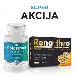 AKCIJA !!! Renarthro 30 kapsula dobijete GRATIS kada kupite Colostrum 60 kapsula
